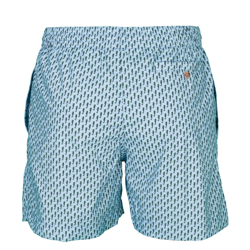 Caldelari Men Swimwear - James the Seahorse Light Blue - Handmade in Italy