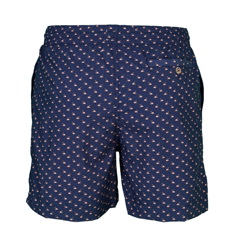 Caldelari Men Swimwear - Ralph the Flamingo Navy Blue - Handmade in Italy