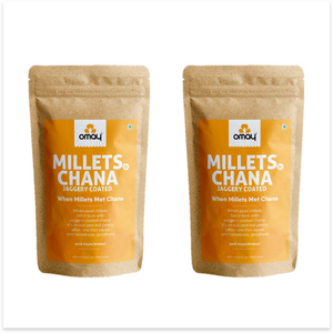 Millets & Chana - Jaggery coated