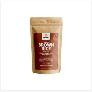 Beaten Brown Rice - Desi Mix - 400 gms Pouch