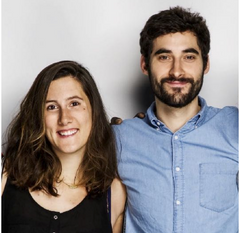 Coline Juin and David Stoikovitch, Moona cofounders