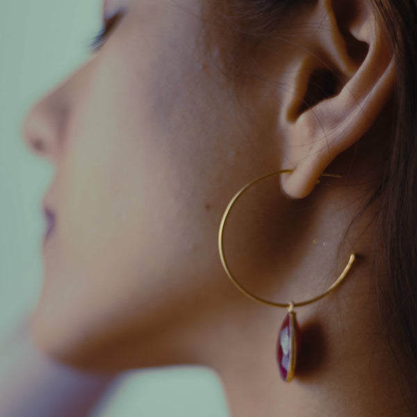 Drop Gem Hoops