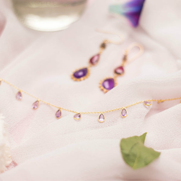 Gem Teardrop Necklace