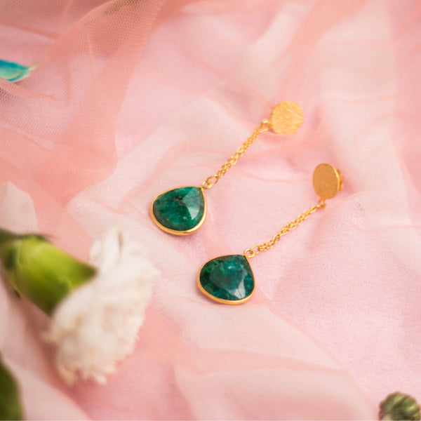 Green Gem Earrings