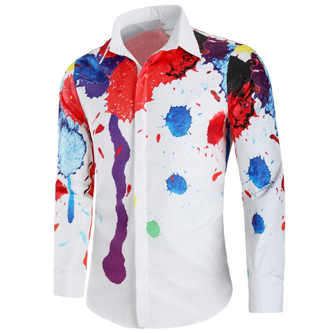 Camisa Casual Estampada - Paint
