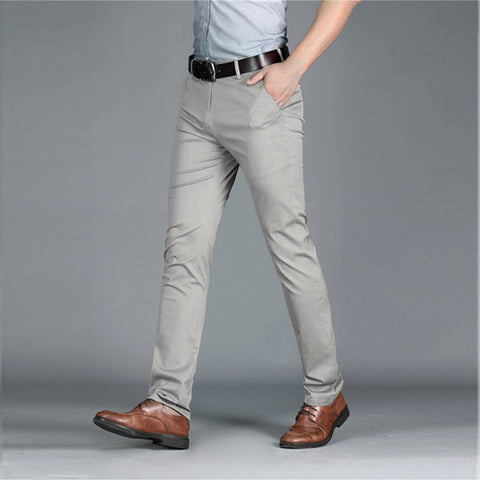 Calça Casual Premium Lisa - Slim Fit Skinny