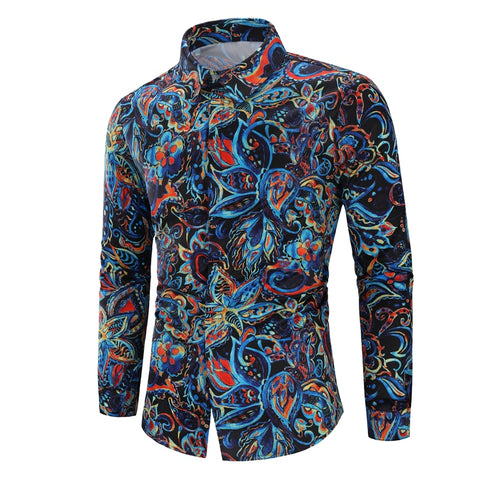 Camisa Florais Estampada Fashion