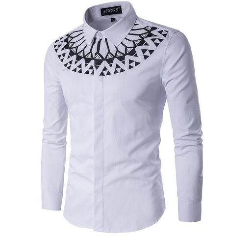 Camisa Fashion com Detalheno Peito do Estilo Arrojado - Branca