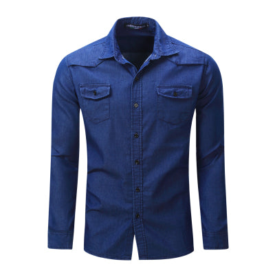 Camisa Jeans Solida Fashion