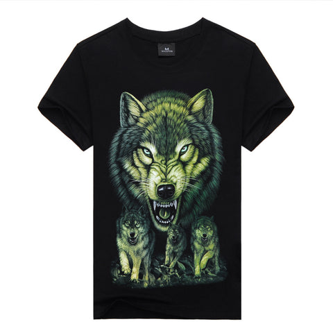 Camiseta Fashion Gola Redonda - Wolves