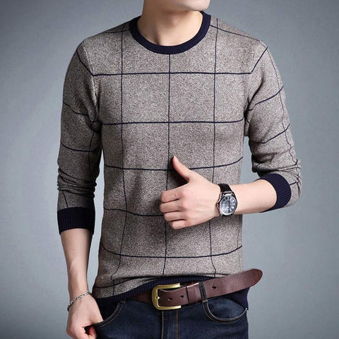 Sweater Fashion Xadrez - Outono