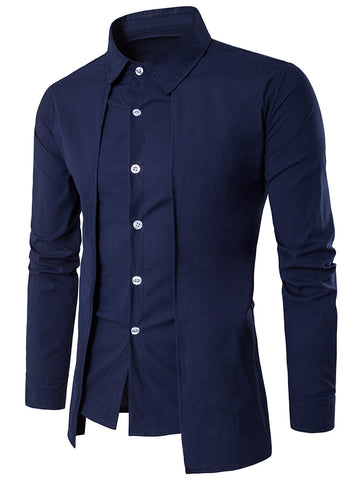 Camisa Fashion Cor Sólido - New Collection - em 4 Cores
