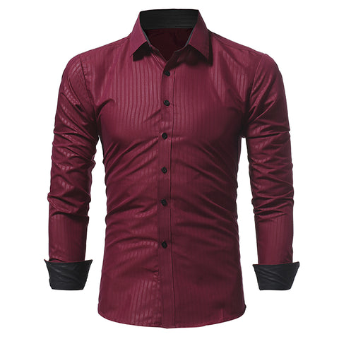 Camisa Fashion Elegante Listrada - Night Shine - em 4 Cores