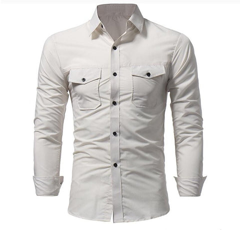 Camisa Fashion Casual Sólida - Classic Style - em 4 Cores