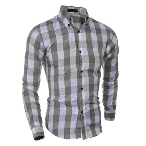 Camisa Casual Xadrez Fashion Slim Fit - em 2 Cores