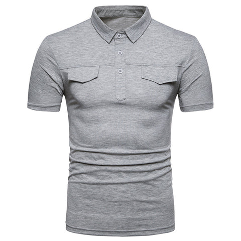 Camisa Polo Solida - Estilo Elegante Slim Fit