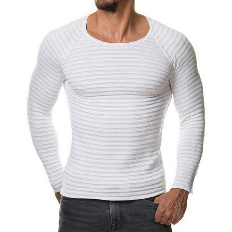 Camiseta Texturada Slim Fit Manga Comprida - Estilo Fashion