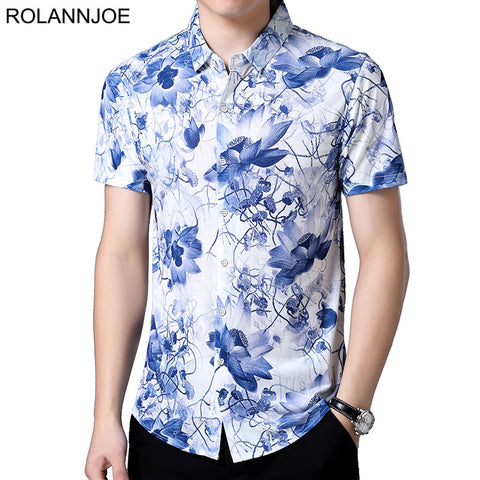 Camisa Manga Curta Fashion Floral - Porcelain