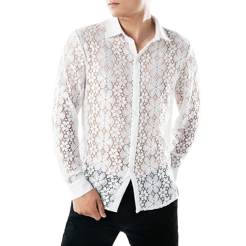 Camisa Casual Fashion Floral Rendada