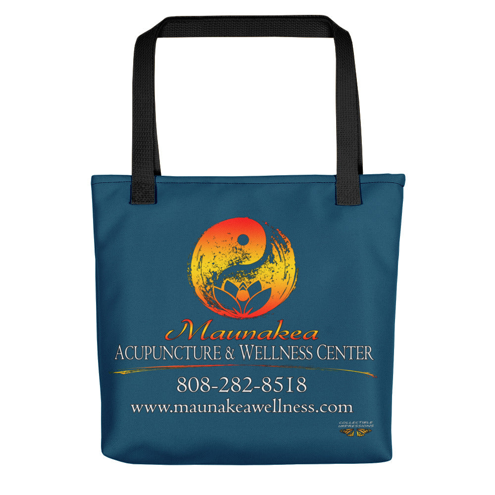 "Maunakea Acupuncture & Wellness Center Tote in ""Dark Sea Green"""