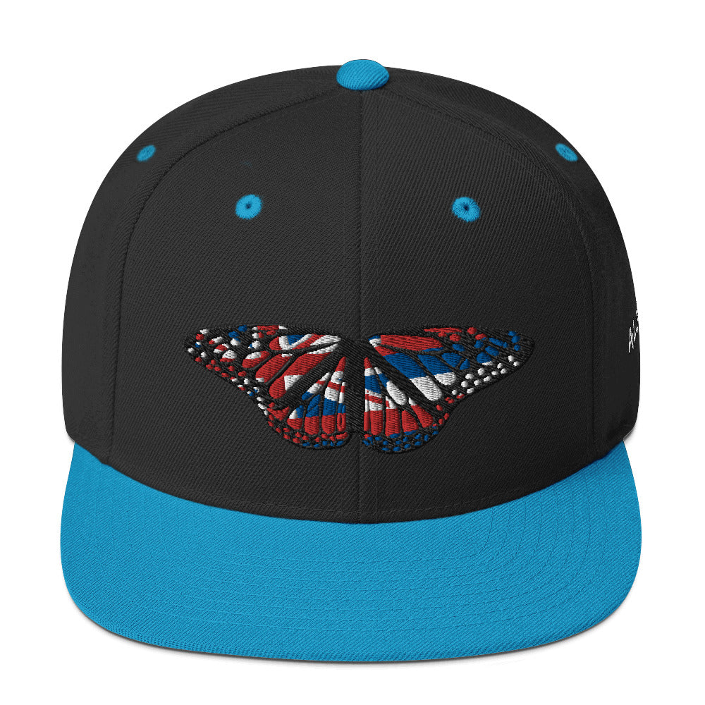 """Hawaiian Butterfly Design"" Embroidered Snapback Style Hat"