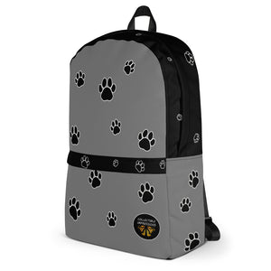Backpack (Paw Print in Grey)