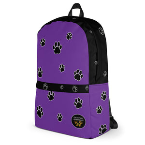 Backpack (Paw Print Purple)