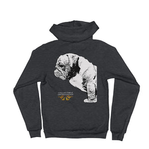 Bulldog Zip-up Hoodie Sweater