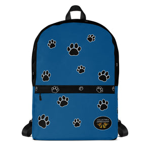 Backpack (Paw Print-Blue)