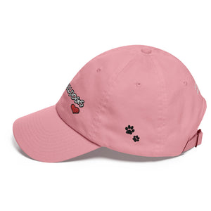 """I Love Bulldogs"" (With Heart Shape) Embroidered Hat/Cap"