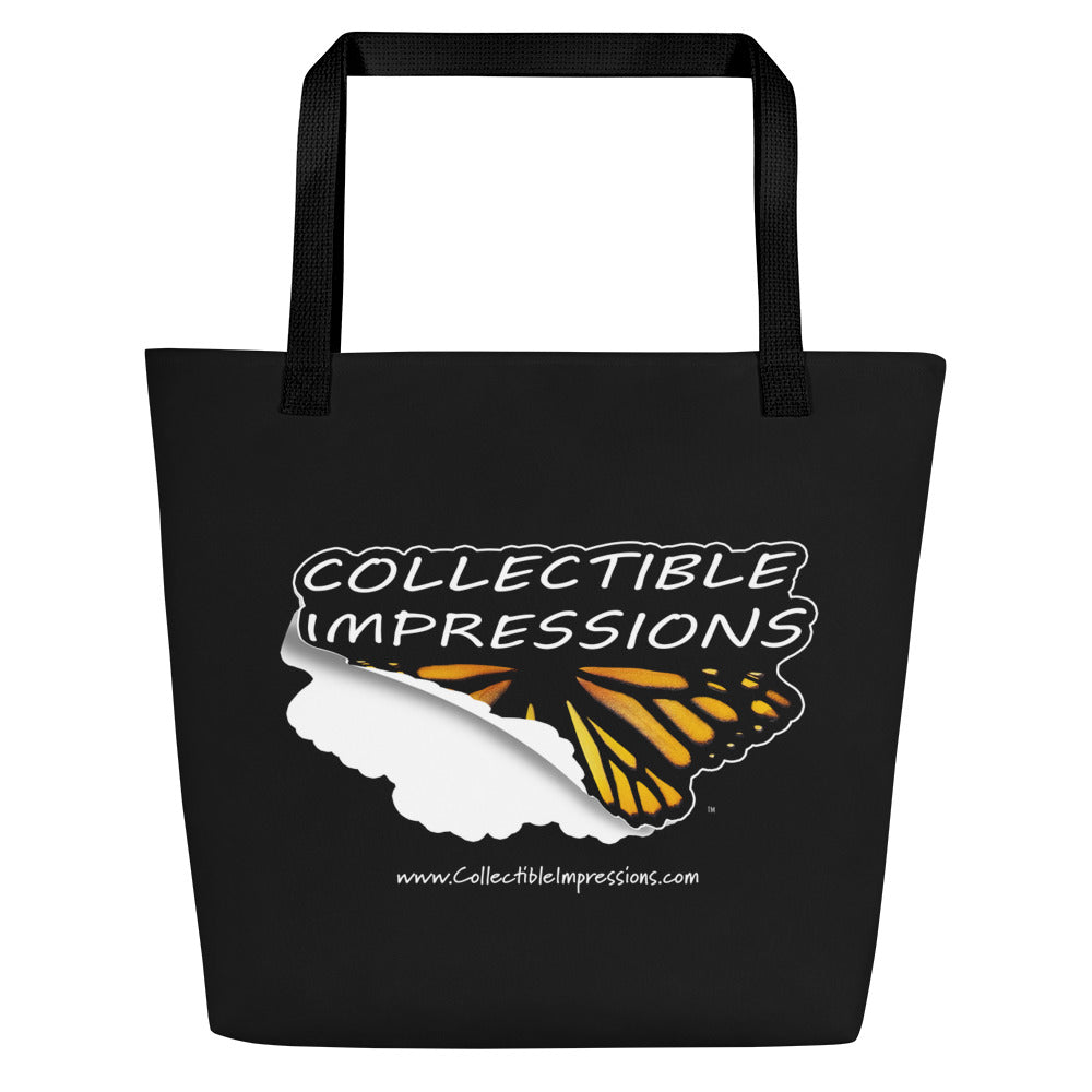 Collectible Impressions (Die Cut Sticker Style Logo) Beach Bag