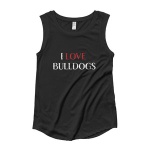 """I LOVE BULLDOGS"" Ladies' Cap Sleeve"