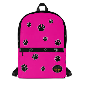 Backpack (Paw Print-Pink)