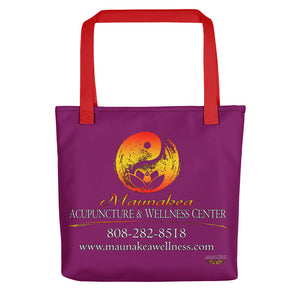 "Maunakea Acupuncture & Wellness Center Tote in ""Magenta"""