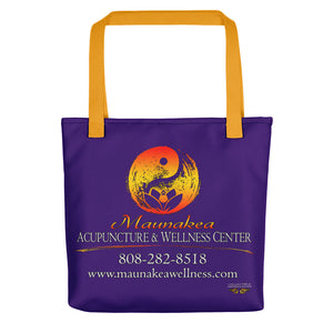 "Maunakea Acupuncture & Wellness Center Tote in ""Dark Violet"""