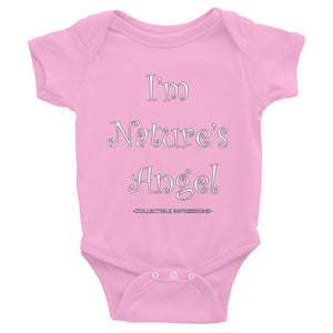 "Collectible Impressions ""I'm Nature's Angel"" Infant Bodysuit"