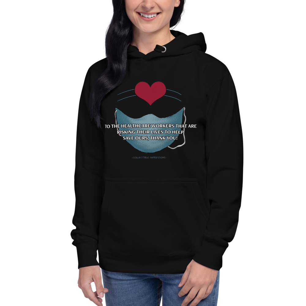 """Thank You Healthcare Workers"" Unisex Premium Hoodie"