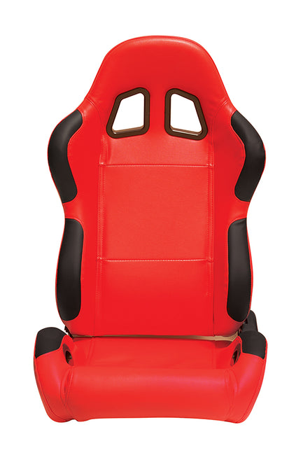 CPA1025PRD Red leatherette racing seat (Pair)