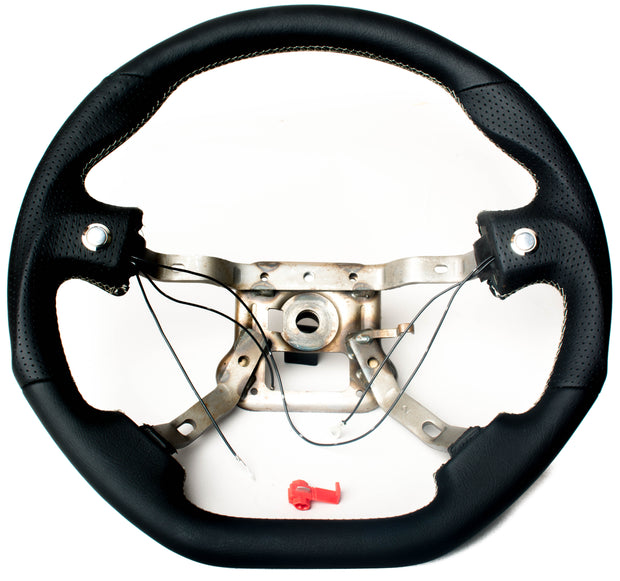 Enhanced Steering Wheel for Mazda Miata NA Leather with Silver Stitching
