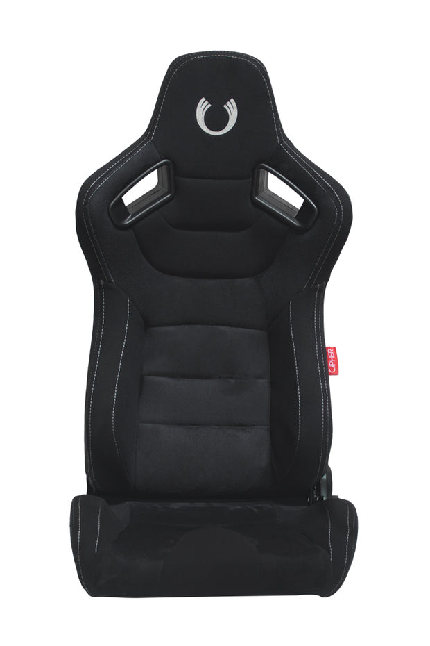 CPA2009 Cipher AR-9 Revo Racing Seats All Black Suede and Fabric w/ Carbon Fiber Polyurethane Backing - Pair
