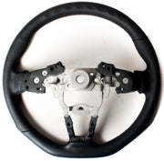 Enhanced Steering Wheel for Mazda Miata ND Leather with Grey Stitching