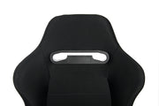 CPA1013 BLACK CLOTH W/ GREY OUTER STITCHING CIPHER AUTO RACING SEATS - PAIR