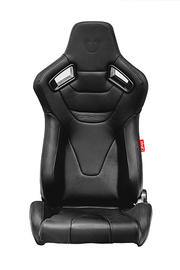 CPA2009RS Cipher Racing Seats Black Leatherette Carbon Fiber w/ Black Stitching - Pair (NEW!)