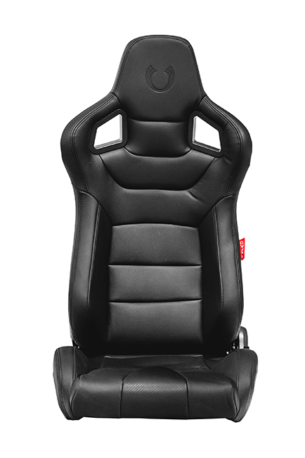 CPA2001 Cipher Euro Racing Seats Black Leatherette Carbon Fiber w/ Black Stitching - Pair —OUT OF STOCK