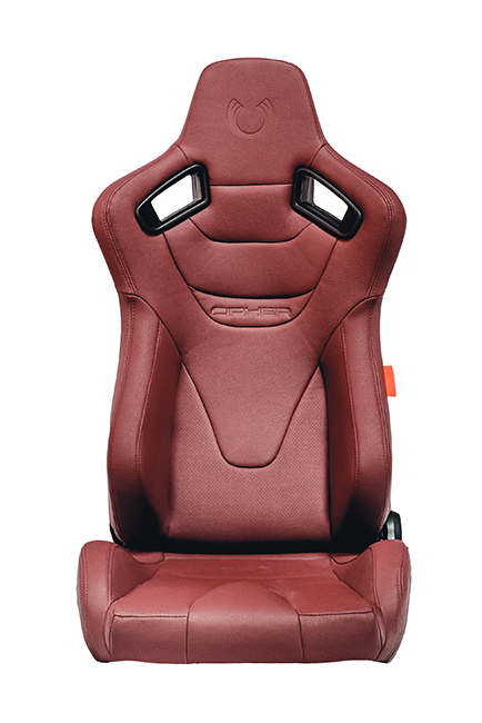 CPA2009RS Cipher Racing Seats Maroon Leatherette Carbon Fiber  - Pair