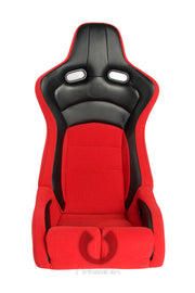 CPA2002CFBKRD CIPHER VIPER RACING SEATS RED CLOTH W/ BLACK CARBON PU - PAIR
