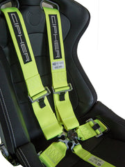 CPA4005 Cipher Racing Neon Yellow 5 Point 3 Inches Camlock Quick Release Racing Harness w/ Snap Hook & Eye Bolts - SFI 16.1