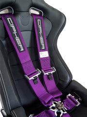 CPA4005 Cipher Racing Violet Purple 5 Point 3 Inches Camlock Quick Release Racing Harness w/ Snap Hook & Eye Bolts - SFI 16.1-----OUT OF STOCK ETA--8/25/2020