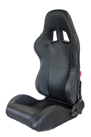 CPA1007 Black Carbon Fiber PU Cipher Auto Racing Seats - Pair