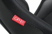 CPA2003CFBK CIPHER VP-8 RACING SEATS ALL BLACK W/ BLACK CARBON PU - PAIR